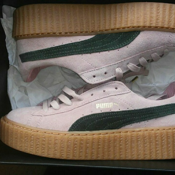 best cheap 48098 691f8 Puma. Rihanna creepers pink ang green